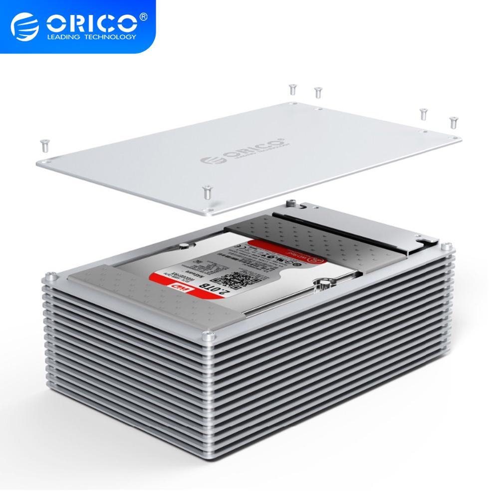 ORICO HDD Case Type-C DIY Hollow 2.5/3.5 Inch Hard Drive Enclosure Aluminum Alloy With 12V EU Power Supply Support 20TB Capacity