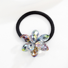 CHIMERA Crystal Flower Hair Ties Elastic Bands Korean Girls Accessories Fashion Women Retro Gum For Scrunchies Rope