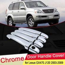 Para lexus gx470 j120 2003 2004 2005 2006 2007 2008 2009 luxuriou chrome maçaneta da porta capa captura guarnição conjunto tampa do carro acessórios abs