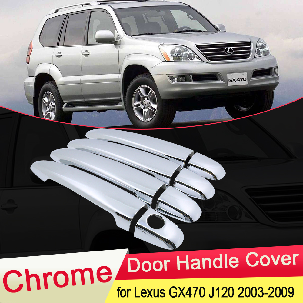 for <font><b>Lexus</b></font> <font><b>GX470</b></font> J120 2003 2004 2005 2006 2007 2008 2009 Luxuriou Chrome Door Handle Cover Catch Trim Set Car Cap <font><b>Accessories</b></font> ABS image
