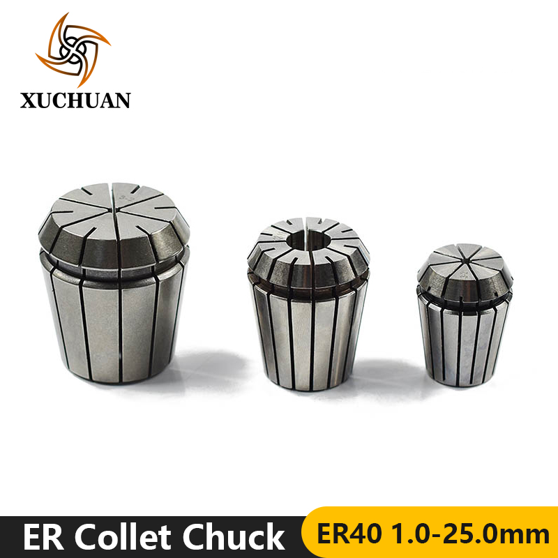 1pc ER40 4.0-25mm ER Collet Chuck Lathe Tool Holder Spring Collet Clamp
