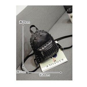 Image 5 - Mochila feminina pequena couro legítimo, bolsa escolar casual viagem preta