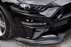 Estilo de coche 2 uds ABS negro parachoques frontal de entrada de aire Trim Panel placas decorativas para Ford Mustang 2018 2019 2020 Accesorios