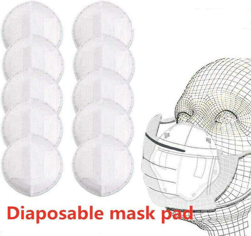 50PCS Disposable Filter Pad For Kids Adult Face Mouth Mask Respirator PM25 Suitable For N95 KN95 KF94 Ffp3 2 1 Protective Masks