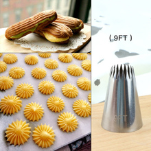 #9FT Large Icing Piping Nozzles Russian Nozzles Pastry Tips Cookies Cake Decorating Tools Tips Cream Fondant Pastry Nozzles