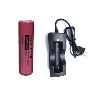 PKCELL ICR18650B 3.7 v 2200 mah 18650 Lithium Rechargeable Battery batteries flat top (NO PCB)(GIFT 18650 battery charger)