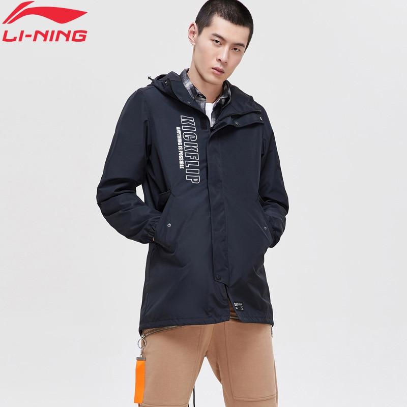 (Break Code)Li-Ning Men The Trend Trench Regular Fit Windbreaker Jacket LiNing Li Ning Sport Hooded Jackets Coats AFDP023 MWF386