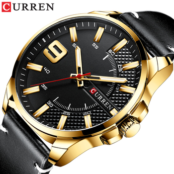 Curren 8371 Army Military Quartz Mens Watches Luxury Leather Men Watch Casual Sport Male Clock Watch