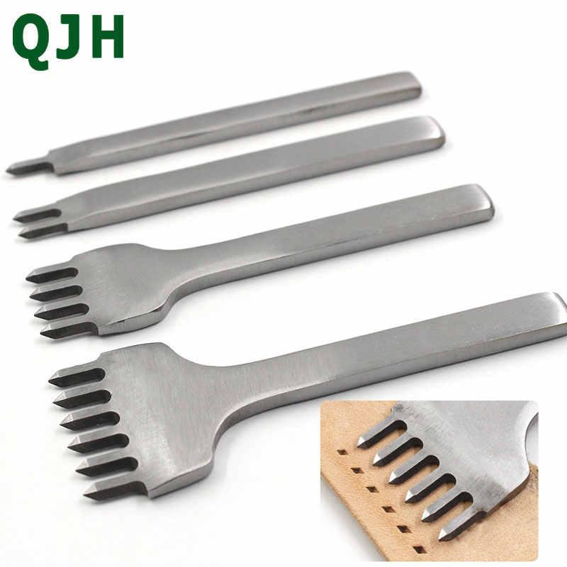 3/4/5/6mm Abstand Punch Werkzeug Für Leder Locher Werkzeug Schnürung Stitching Nähen DIY leder Handwerk Werkzeuge 1/2/4/6 Prong