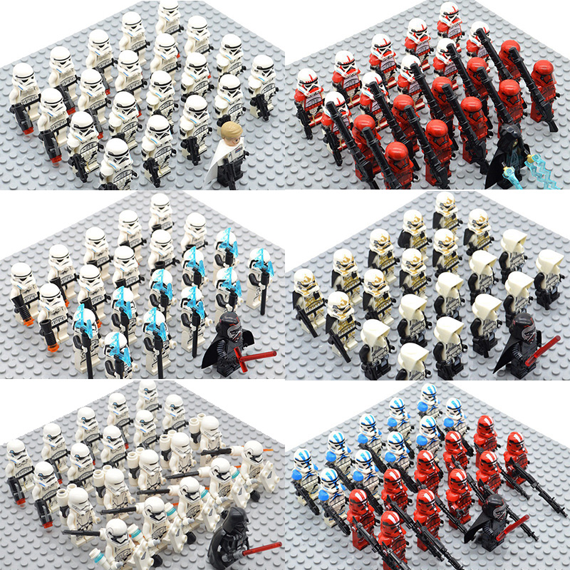 21pcs/set Star Wars Royal Guard Wolf Trooper Shock Trooper Legion Building Blocks Bricks Toys For Children