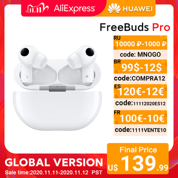In Stock Global Version HUAWEI Freebuds Pro Smartearphone Qi Wireless Charge ANC Function For Mate 40 Pro P30 Pro