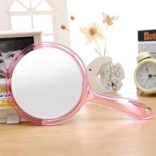 Пластиковая ручка двухстороннее зеркало боковое плоское зеркало боковое зеркало рекламная акция зеркало двухстороннее зеркало