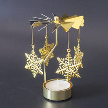 Candle-Holder Tea-Light Candlesticks-Rotating Spinning-Carrousel Party Wedding-Angel