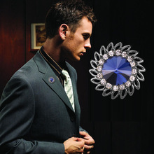 Star Crystal Rhinestone Sunflower Brooches Pins High-grade Suit Shirt Collar Lapel Pin Small Button Needle for Men Women Jewelry crystal sunflower brooches lapel pins for women corsage scarf dress decoration