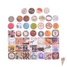 46 unids/caja de pegatinas DIY Vintage Retro estampillas adhesivas londres Paris Prince Alice álbum de recortes adhesivo papel para bebé niños juguete