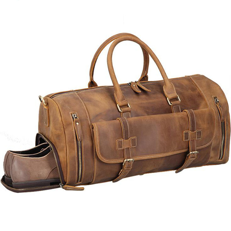 Natural Cow Skin Travel Bags Euro Trend