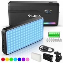 VIJIM Luz LED VL196 RGB para vídeo 2500K 9000K, luz de relleno regulable, lámpara de luz Vlog para teléfono inteligente, Kit de iluminación de fotografía Ulanzi