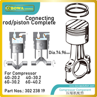 Dia.74.96mm connecting rod/piston complete is designed for 21m3/h cylinder of freezer compressors  e.g. 4G 20.2 or 6G30.2Y