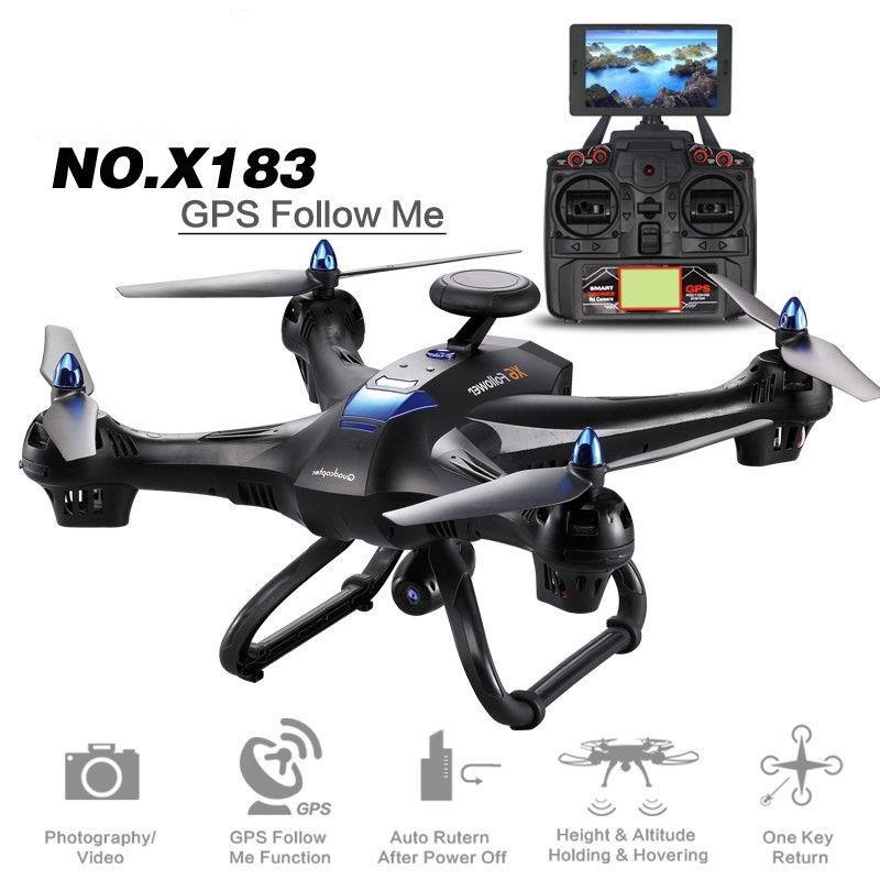 RC Quadcopter <font><b>GPS</b></font> <font><b>Drone</b></font> Display Screen FPV 2MP WiFi Camera RC Helicopter <font><b>GPS</b></font> <font><b>Follow</b></font> Me WIFI FPV Dron Quadrocopter Aircraft TOY image