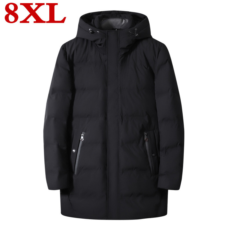 New Plus Size 8XL Winter Ultralight  Duck Down Men's Brand Clothing 90% White Duck Down Jackets Stand Collar Seamless Warm Parka