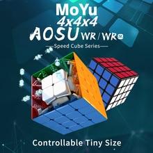 مكعب سحري Moyu Aosu WR M مغناطيسي 4x4x4 مكعبات أُحجية مكعبات مسابقات cubo magico