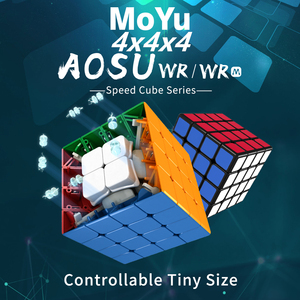 Image 1 - Moyu Aosu WR M Magnetic 4x4x4 magic cube 4x4 speed cube puzzle cubo magico Competition Cubes