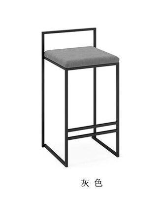 Скандинавские барные стулья модный современный минималистичный барный высокий барный стул Домашний Персональный барный стул Креативный дизайн стул 66 см высота сиденья - Цвет: 65cm seat height C