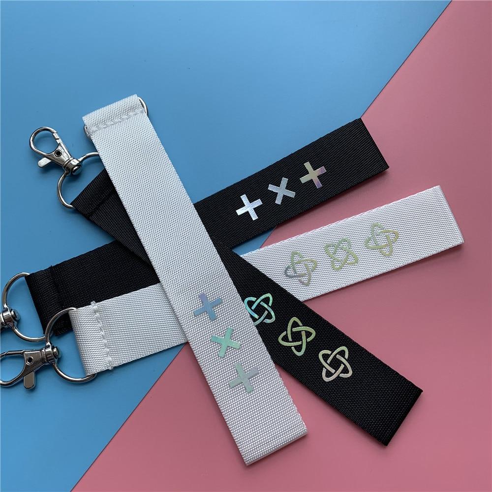 KPOP TXT Logo Laser Lanyard Soobin Taehyun Cute Key Chain Pendant Accessories