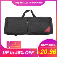 Protable 73/ 76 Key Electric Piano Keyboard Organ Gig Bag Soft Case 46.4 *16.5 Durable 600D cover case for Electronic Keyboard