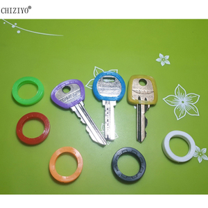 Image 2 - CHIZIYO Newest 10pcs Bright Colors Hollow Silicone Key Cap Covers Topper Keyring Key Rings Car House Key Case
