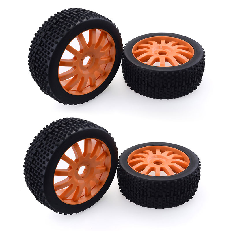 4Pcs 1/8 Buggy Off Road Tires Hex 17mm Wheels for 1:8 HSP Redcar Racing Losi HPI XTR Badlands Short Coruse Cars(China)