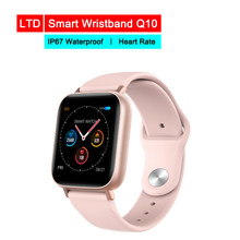 Smart Watch Q10 For Android IOS Electronics Smart Wristband Fitness Tracker IP67 Waterproof Heart Tracker(China)