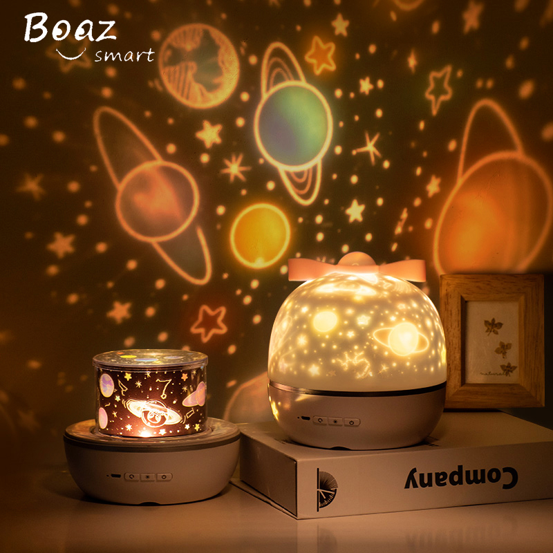BOAZ Ocean Starry Sky Rotating Projector Night Light 6 Patterns Mode LED Laser Night Light Gift For Kids Children Living/Bedroom