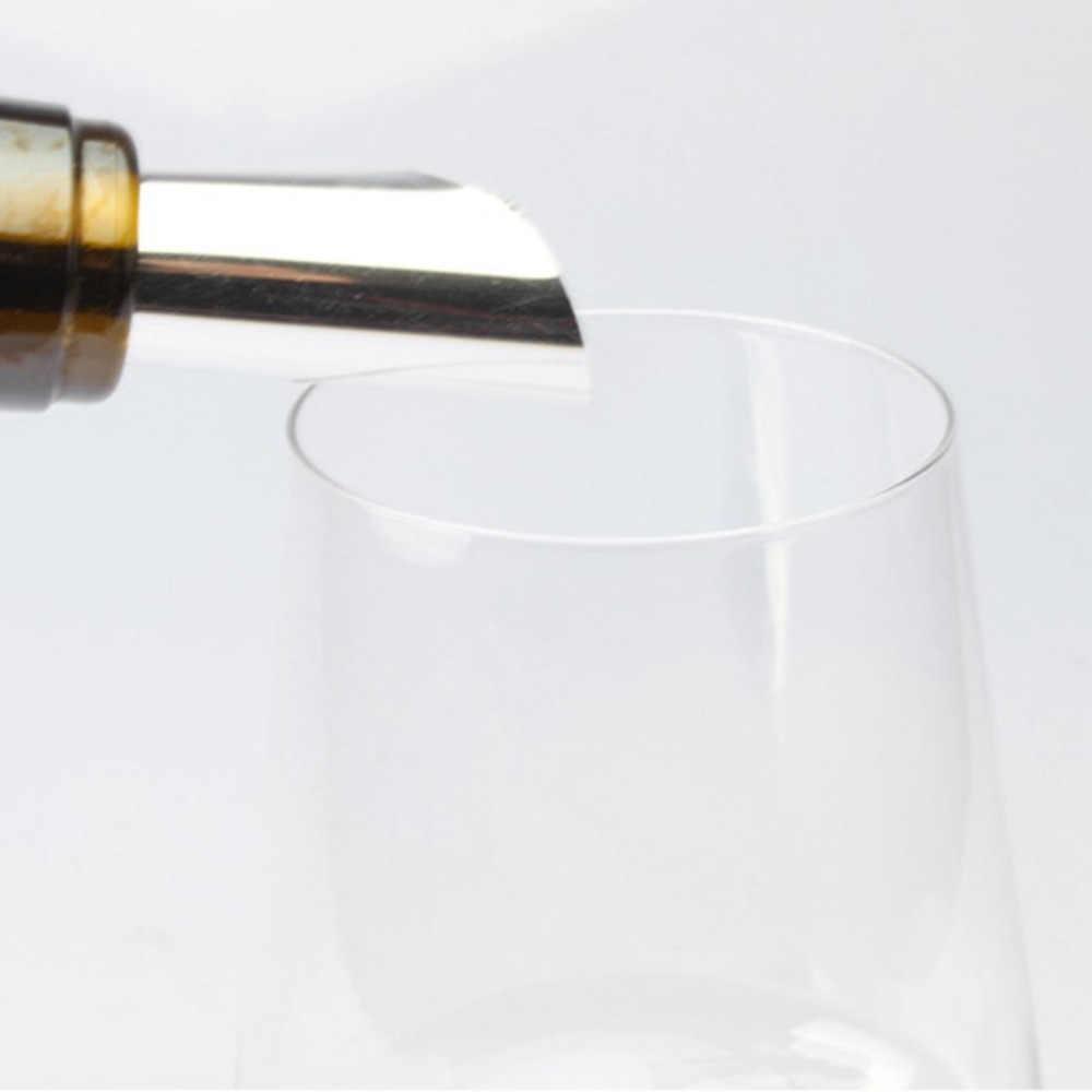 1 個折りたたみワイン注ぎ口 DROPSAVER リークプルーフ噴出アルミ箔ワインウイスキー注ぎ口柔軟な再利用可能なドロップストップ注ぐ