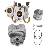Piston Kit With Rings Pin Collar Carburetor Cylinder Head For Stihl TS410 TS420 Accessories