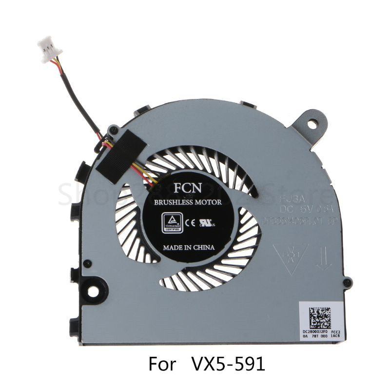 Laptop Cooling CPU Fan Cooler Radiator Replacement Accessories For Acer Shadow Rider 3 VX5-591G