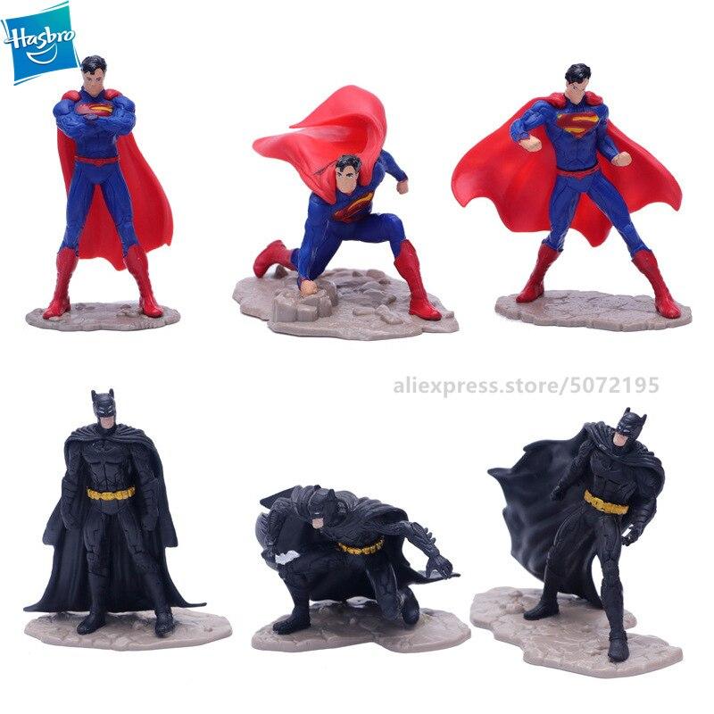 Hasbro New hot Cool action superman Batman 6pcs/set War Superman PVC Collectible Model