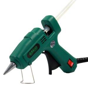 Image 4 - LAOA 25W/60W/100W/150W Hot Melt Kleber Gun Professionelle pistolet eine colle mini Für Metall/Holz Arbeits Stick Papier Haarnadel PU Blume