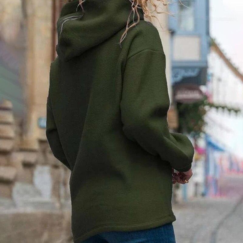 2020 Autumn Print Heart Paw Women's Hooded Sweatshirts 3