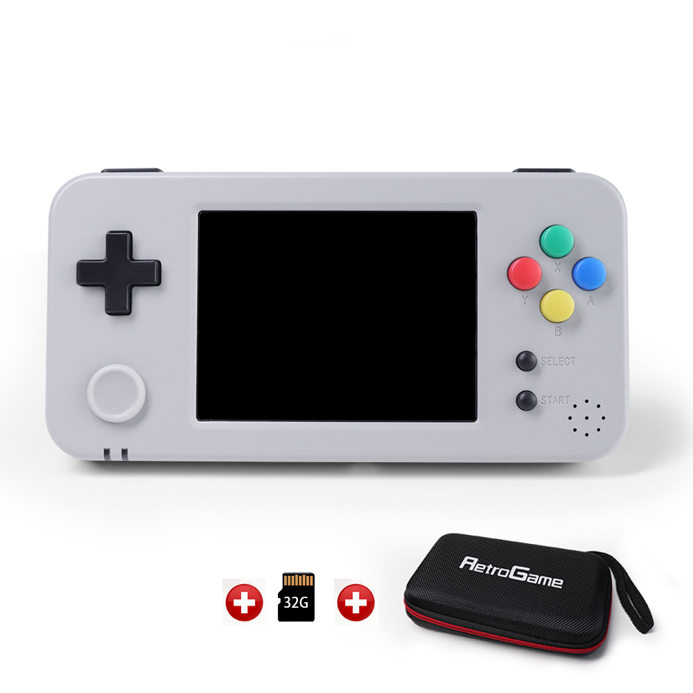 GameKiddy 350H, GKD350h Retro Game Console, 3.5inch IPS screen portable Video Game Handheld, PS1 games player rg350h