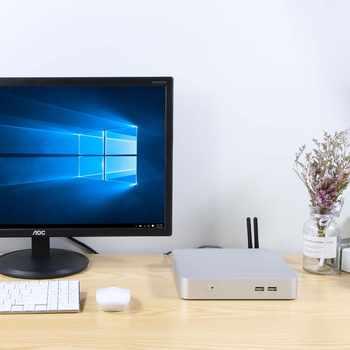 HLY Mini PC Core i7 7500U i5 7200U Windows 10 4K UHD Cooler Fan Mini Computer HDMI Wifi 2.5inch SATA HDD Windows PC minipc