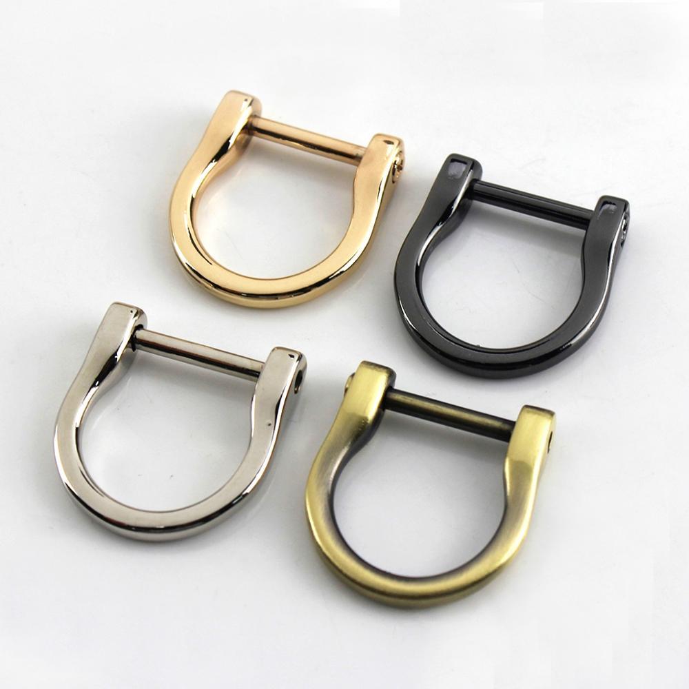 1piece Metal Detachable Removable Open Screw D Ring Buckle Shackle Clasp Leather Craft Bag Strap Belt Handle Shoulder Webbing