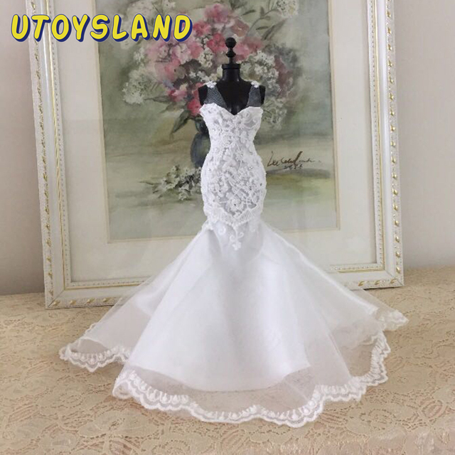 Hot DIY Handmade Sewing Clothes Mini Doll Wedding Dress Accessories Kit For Children Kids Educational Toys Birthday Gift - 01 1
