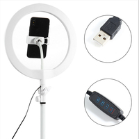 10 LED Ring Light Fill Light Dimmable Lamp Studio Photo Phone Video Live Photography Selfie Light with USB Cable