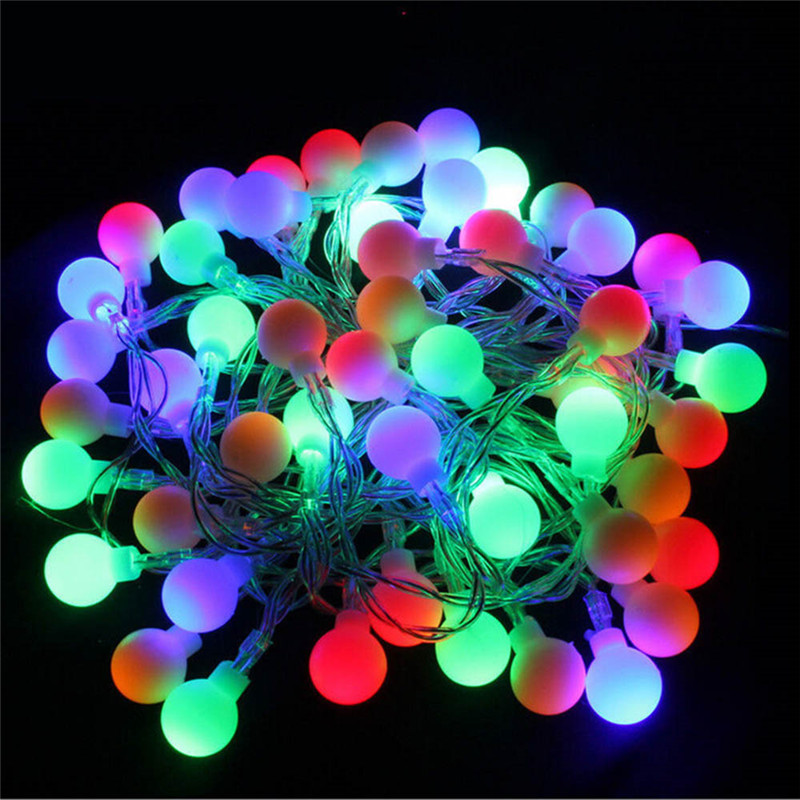 New 5M 40 LED RGB Garland String Fairy Ball Light For Wedding Christmas Holiday Decoration Lamp Festival Outdoor Lighting 220V