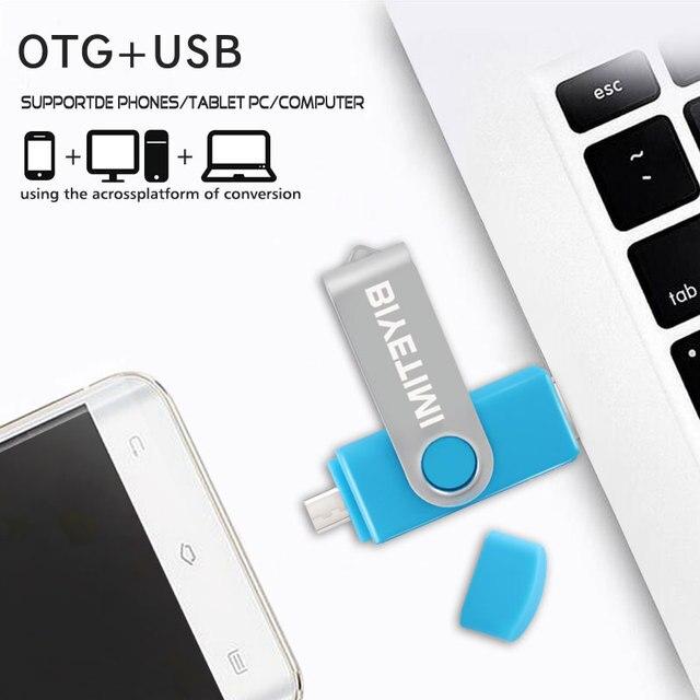Biyetimi Multifunctional USB Flash Drive otg 2.0 pendrive 64gb cle usb флэш-накопител stick 32gb 16gb 8gb 4g Pen Drive for phone 4