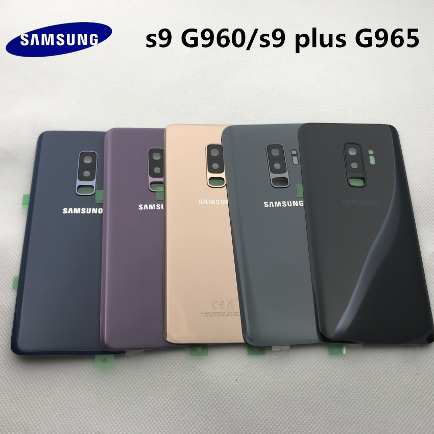 SAMSUNG <font><b>Back</b></font> Battery Cover For Samsung Galaxy S9 Plus s9+ G965 SM-G965F G965FD S9 <font><b>G960</b></font> SM-G960F G960FD <font><b>Back</b></font> Rear Glass Case image
