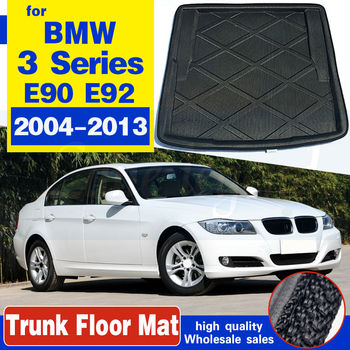 For BMW 3 Series E90 E92 Saloon Sedan Coupe 2004 - 2013 Tailored Boot Liner Cargo Tray Rear Trunk Floor Mat Carpet Luggage Tray image