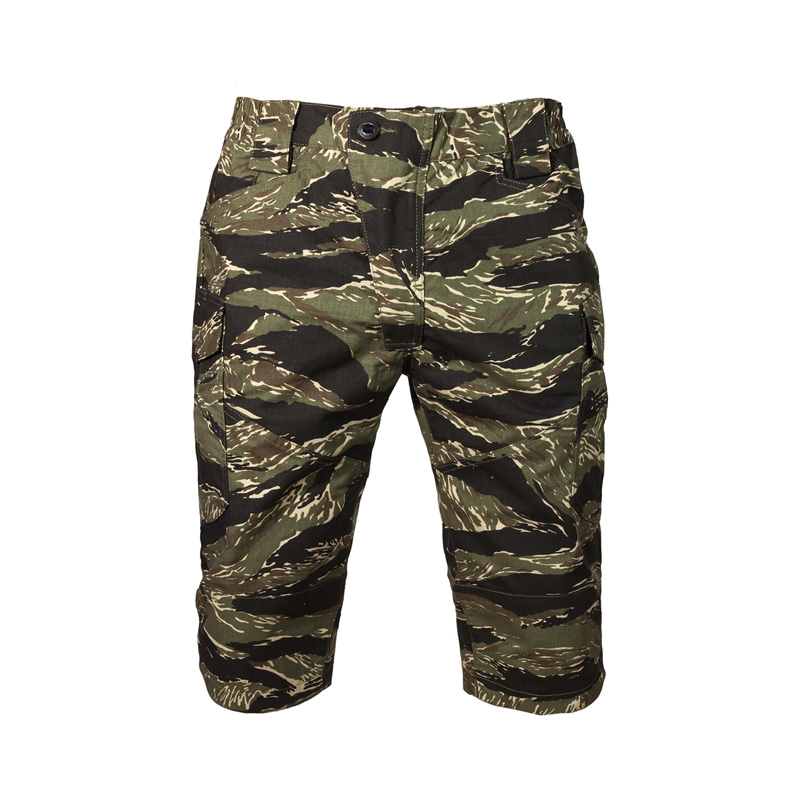 2019 NEW Men's Tactical Short Pants Tiger Stripe  Ripstop Camouflage  Combat Shorts Military Shorts