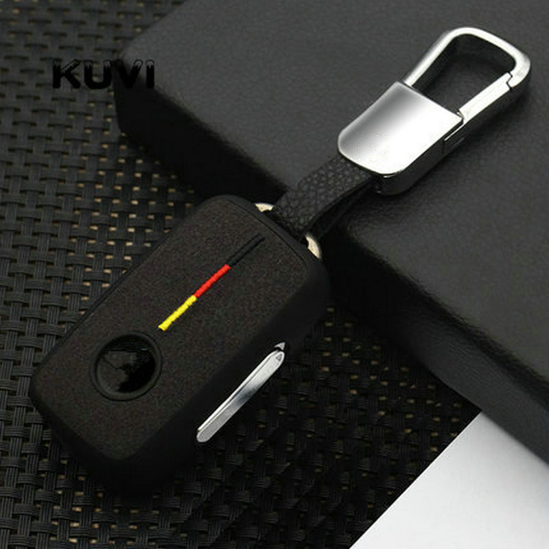 Suede TPU car key cover case shell fob for VW Golf Bora Jetta POLO GOLF Passat For Skoda Octavia A5 Fabia For SEAT Ibiza Leon